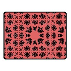 Digital Computer Graphic Seamless Patterned Ornament In A Red Colors For Design Double Sided Fleece Blanket (Small)