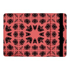 Digital Computer Graphic Seamless Patterned Ornament In A Red Colors For Design Samsung Galaxy Tab Pro 10.1  Flip Case