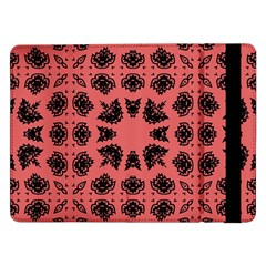 Digital Computer Graphic Seamless Patterned Ornament In A Red Colors For Design Samsung Galaxy Tab Pro 12.2  Flip Case