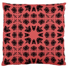 Digital Computer Graphic Seamless Patterned Ornament In A Red Colors For Design Large Flano Cushion Case (One Side)