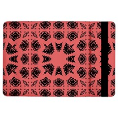 Digital Computer Graphic Seamless Patterned Ornament In A Red Colors For Design iPad Air 2 Flip