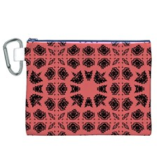 Digital Computer Graphic Seamless Patterned Ornament In A Red Colors For Design Canvas Cosmetic Bag (XL)