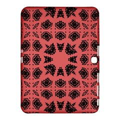 Digital Computer Graphic Seamless Patterned Ornament In A Red Colors For Design Samsung Galaxy Tab 4 (10 1 ) Hardshell Case