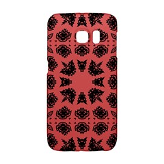 Digital Computer Graphic Seamless Patterned Ornament In A Red Colors For Design Galaxy S6 Edge