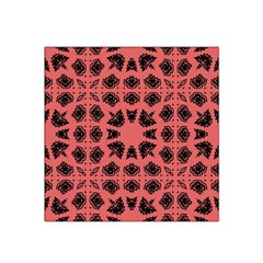 Digital Computer Graphic Seamless Patterned Ornament In A Red Colors For Design Satin Bandana Scarf