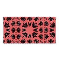 Digital Computer Graphic Seamless Patterned Ornament In A Red Colors For Design Satin Wrap