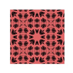 Digital Computer Graphic Seamless Patterned Ornament In A Red Colors For Design Small Satin Scarf (square)
