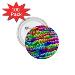 Digitally Created Abstract Rainbow Background Pattern 1 75  Buttons (100 Pack)