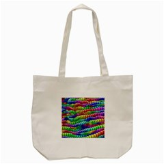 Digitally Created Abstract Rainbow Background Pattern Tote Bag (cream)