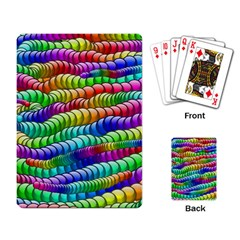 Digitally Created Abstract Rainbow Background Pattern Playing Card