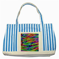 Digitally Created Abstract Rainbow Background Pattern Striped Blue Tote Bag