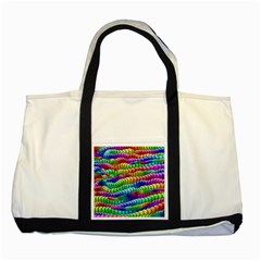 Digitally Created Abstract Rainbow Background Pattern Two Tone Tote Bag
