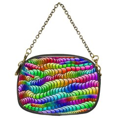 Digitally Created Abstract Rainbow Background Pattern Chain Purses (One Side)