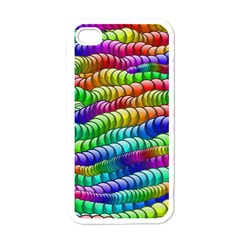 Digitally Created Abstract Rainbow Background Pattern Apple Iphone 4 Case (white)