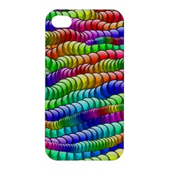 Digitally Created Abstract Rainbow Background Pattern Apple iPhone 4/4S Hardshell Case