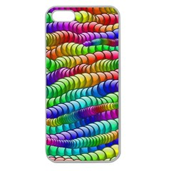 Digitally Created Abstract Rainbow Background Pattern Apple Seamless iPhone 5 Case (Clear)