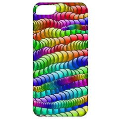 Digitally Created Abstract Rainbow Background Pattern Apple iPhone 5 Classic Hardshell Case