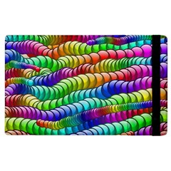 Digitally Created Abstract Rainbow Background Pattern Apple iPad 2 Flip Case