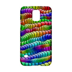 Digitally Created Abstract Rainbow Background Pattern Samsung Galaxy S5 Hardshell Case