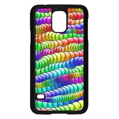 Digitally Created Abstract Rainbow Background Pattern Samsung Galaxy S5 Case (Black)