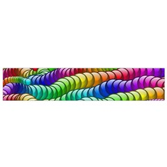Digitally Created Abstract Rainbow Background Pattern Flano Scarf (Small)