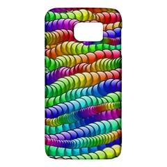 Digitally Created Abstract Rainbow Background Pattern Galaxy S6