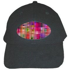 Background Abstract Weave Of Tightly Woven Colors Black Cap