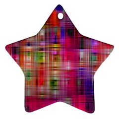 Background Abstract Weave Of Tightly Woven Colors Ornament (star)