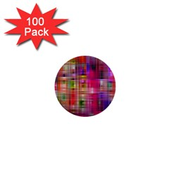 Background Abstract Weave Of Tightly Woven Colors 1  Mini Buttons (100 pack)
