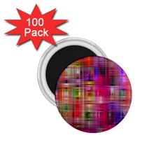 Background Abstract Weave Of Tightly Woven Colors 1 75  Magnets (100 Pack)