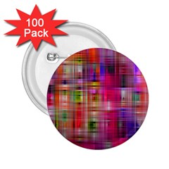 Background Abstract Weave Of Tightly Woven Colors 2.25  Buttons (100 pack)