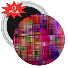 Background Abstract Weave Of Tightly Woven Colors 3  Magnets (10 pack)