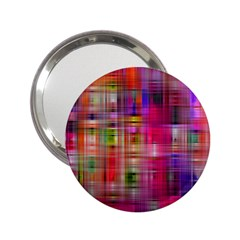 Background Abstract Weave Of Tightly Woven Colors 2.25  Handbag Mirrors