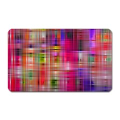Background Abstract Weave Of Tightly Woven Colors Magnet (rectangular)