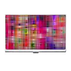 Background Abstract Weave Of Tightly Woven Colors Business Card Holders
