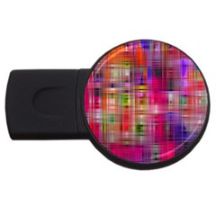 Background Abstract Weave Of Tightly Woven Colors USB Flash Drive Round (1 GB)