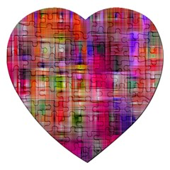 Background Abstract Weave Of Tightly Woven Colors Jigsaw Puzzle (heart)