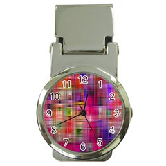 Background Abstract Weave Of Tightly Woven Colors Money Clip Watches