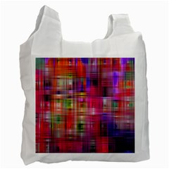 Background Abstract Weave Of Tightly Woven Colors Recycle Bag (two Side)