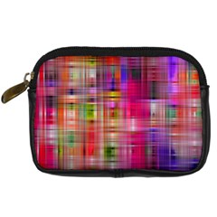 Background Abstract Weave Of Tightly Woven Colors Digital Camera Cases
