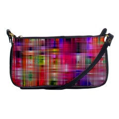 Background Abstract Weave Of Tightly Woven Colors Shoulder Clutch Bags