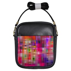 Background Abstract Weave Of Tightly Woven Colors Girls Sling Bags
