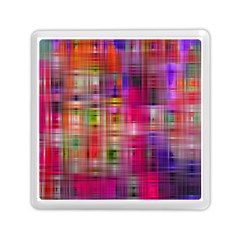 Background Abstract Weave Of Tightly Woven Colors Memory Card Reader (square)