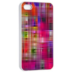 Background Abstract Weave Of Tightly Woven Colors Apple iPhone 4/4s Seamless Case (White)