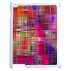 Background Abstract Weave Of Tightly Woven Colors Apple iPad 2 Case (White)
