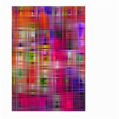 Background Abstract Weave Of Tightly Woven Colors Large Garden Flag (Two Sides)