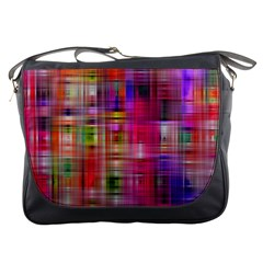 Background Abstract Weave Of Tightly Woven Colors Messenger Bags
