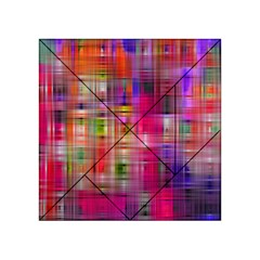 Background Abstract Weave Of Tightly Woven Colors Acrylic Tangram Puzzle (4  x 4 )