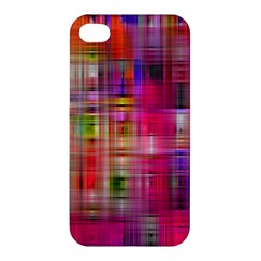 Background Abstract Weave Of Tightly Woven Colors Apple iPhone 4/4S Premium Hardshell Case