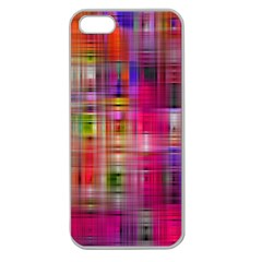 Background Abstract Weave Of Tightly Woven Colors Apple Seamless iPhone 5 Case (Clear)